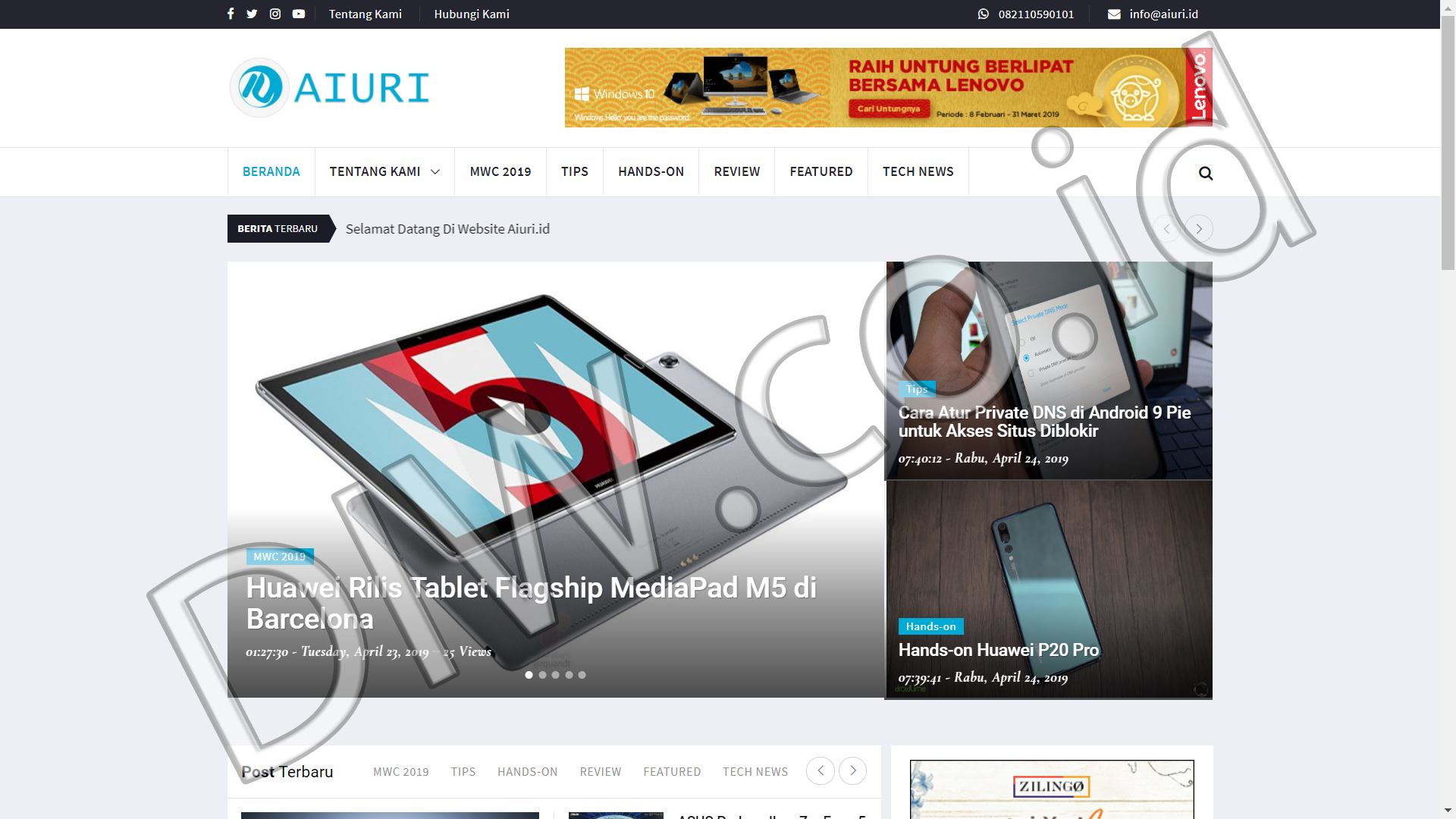 Portfolio 1 - Aiuri - Andri Sunardi - Freelancer - Web Developer - CEO DIW.co.id
