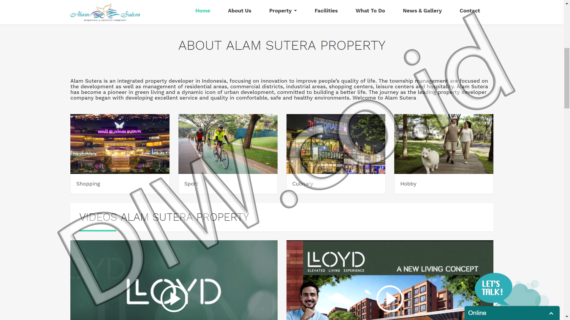 Portfolio 2 - Alam Sutera Property - Andri Sunardi - Freelancer - Web Developer - CEO DIW.co.id