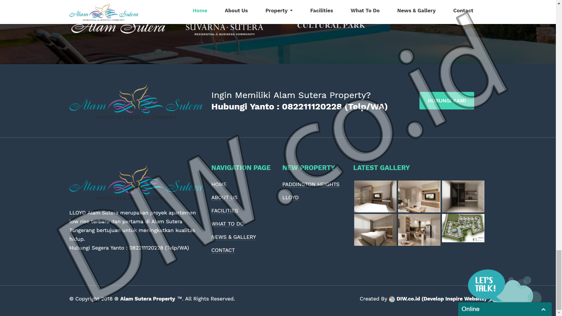 Portfolio 4 - Alam Sutera Property - Andri Sunardi - Freelancer - Web Developer - CEO DIW.co.id