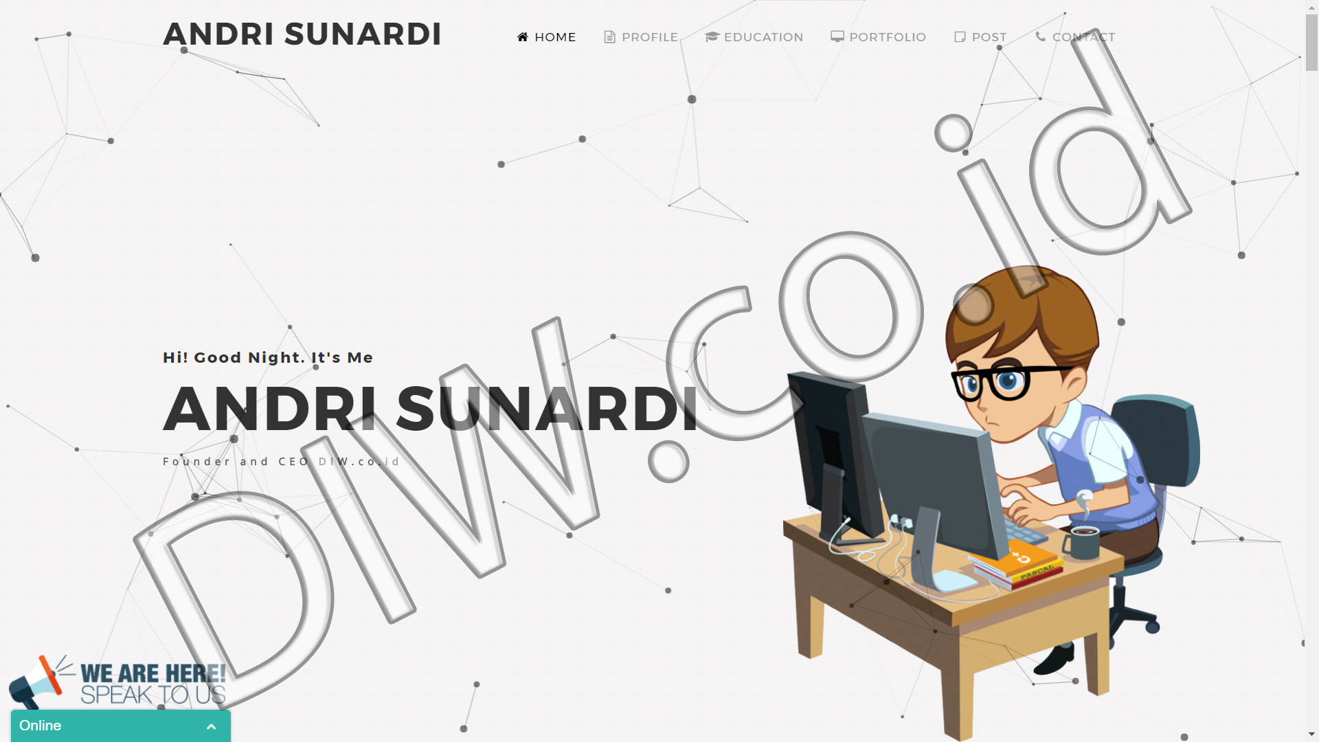 Portfolio 1 - Andri Sunardi - Andri Sunardi - Freelancer - Web Developer - CEO DIW.co.id