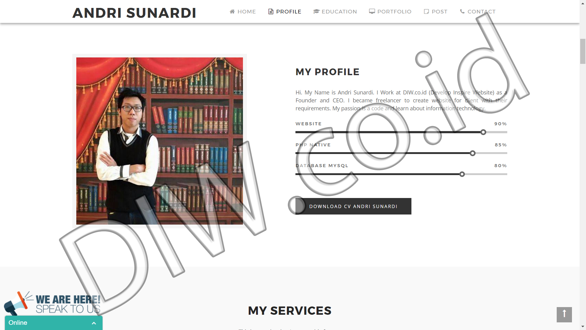 Portfolio 2 - Andri Sunardi - Andri Sunardi - Freelancer - Web Developer - CEO DIW.co.id