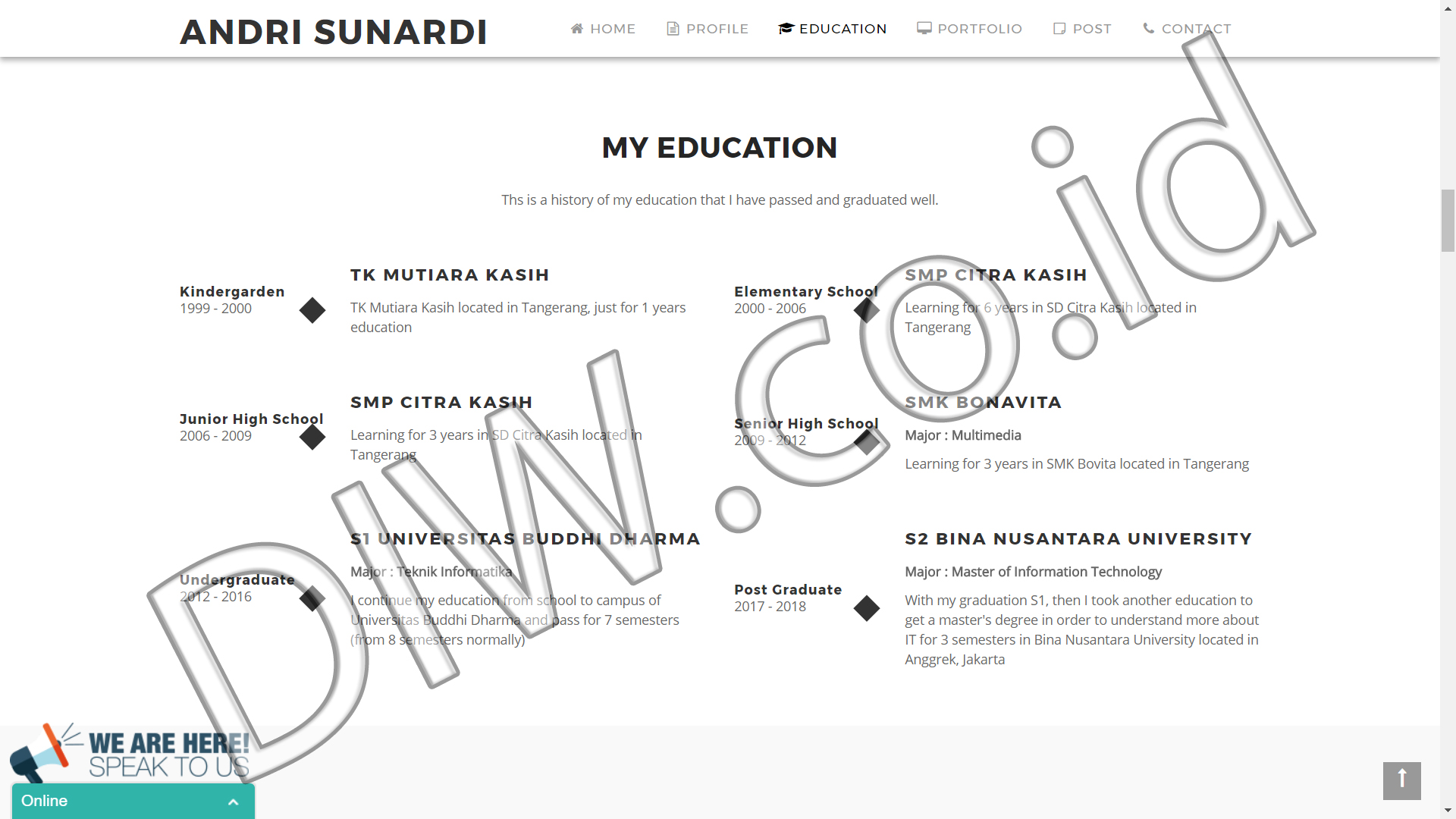 Portfolio 3 - Andri Sunardi - Andri Sunardi - Freelancer - Web Developer - CEO DIW.co.id