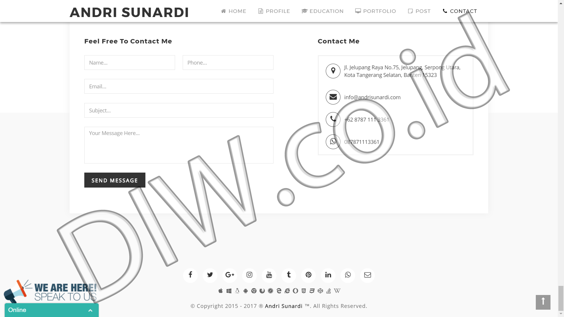 Portfolio 5 - Andri Sunardi - Andri Sunardi - Freelancer - Web Developer - CEO DIW.co.id