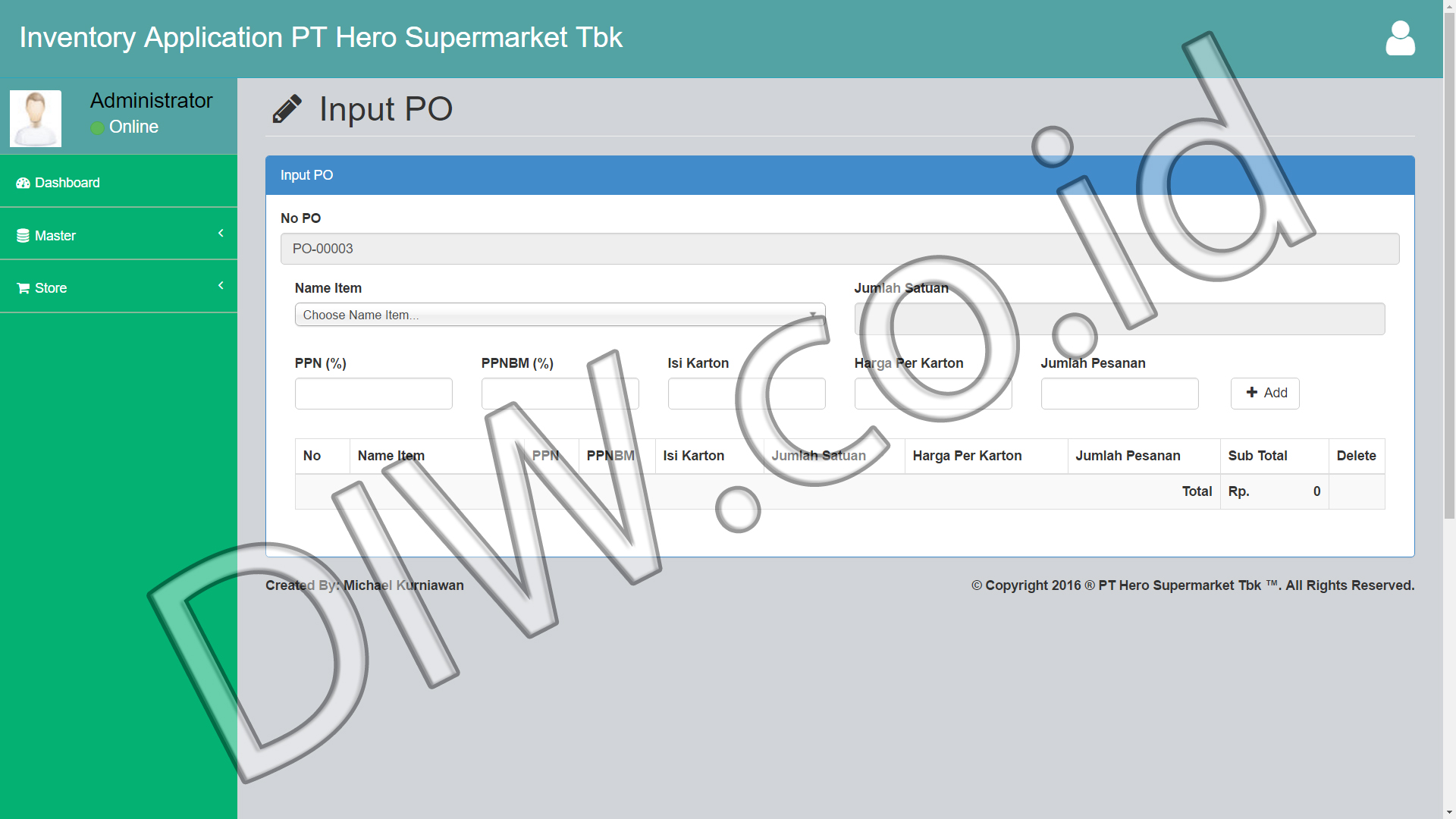 Portfolio 4 - PT Hero Supermarket Tbk - Andri Sunardi - Freelancer - Web Developer - CEO DIW.co.id