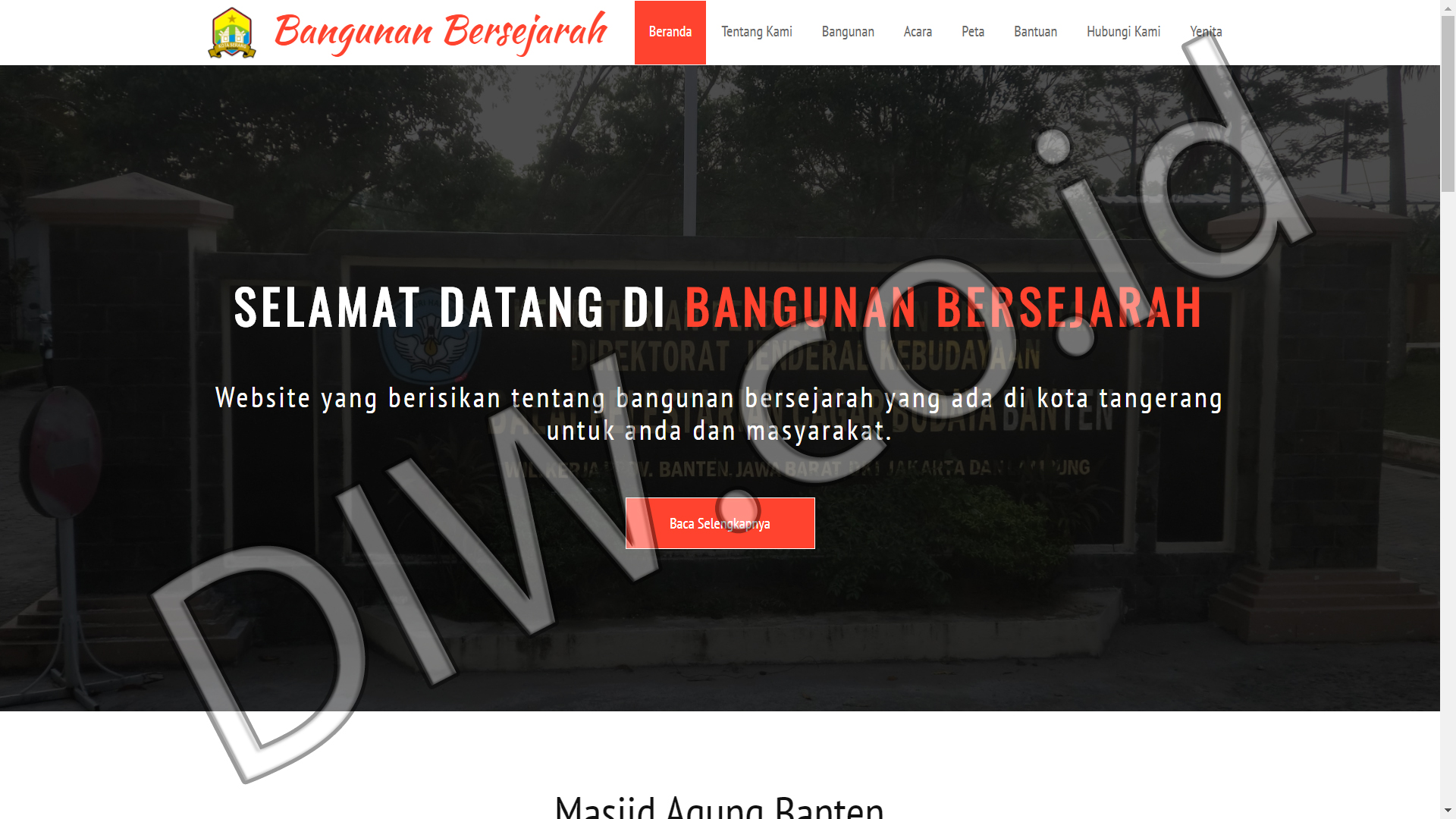 Portfolio 1 - Bangunan Bersejarah - Andri Sunardi - Freelancer - Web Developer - CEO DIW.co.id
