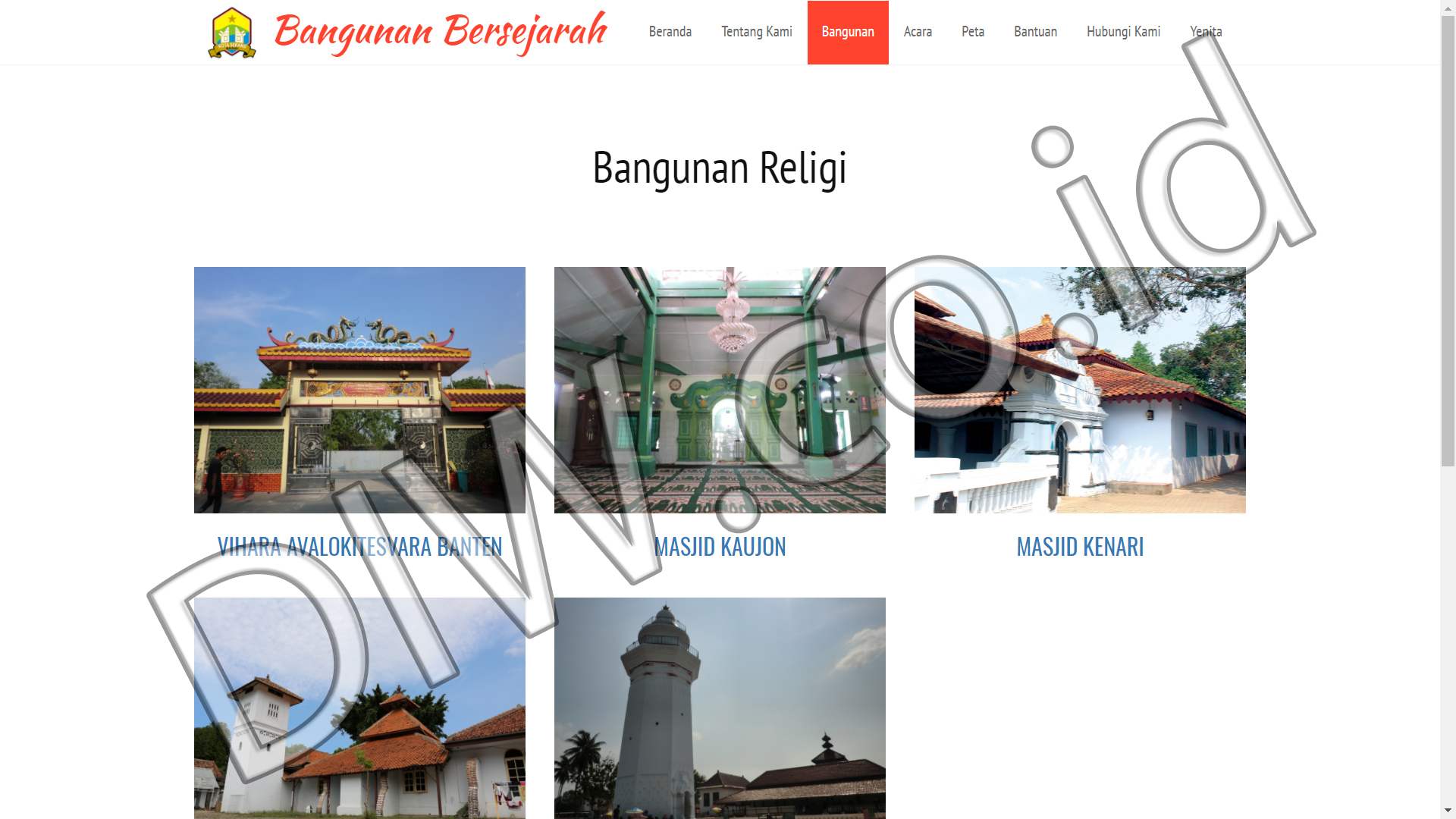 Portfolio 3 - Bangunan Bersejarah - Andri Sunardi - Freelancer - Web Developer - CEO DIW.co.id