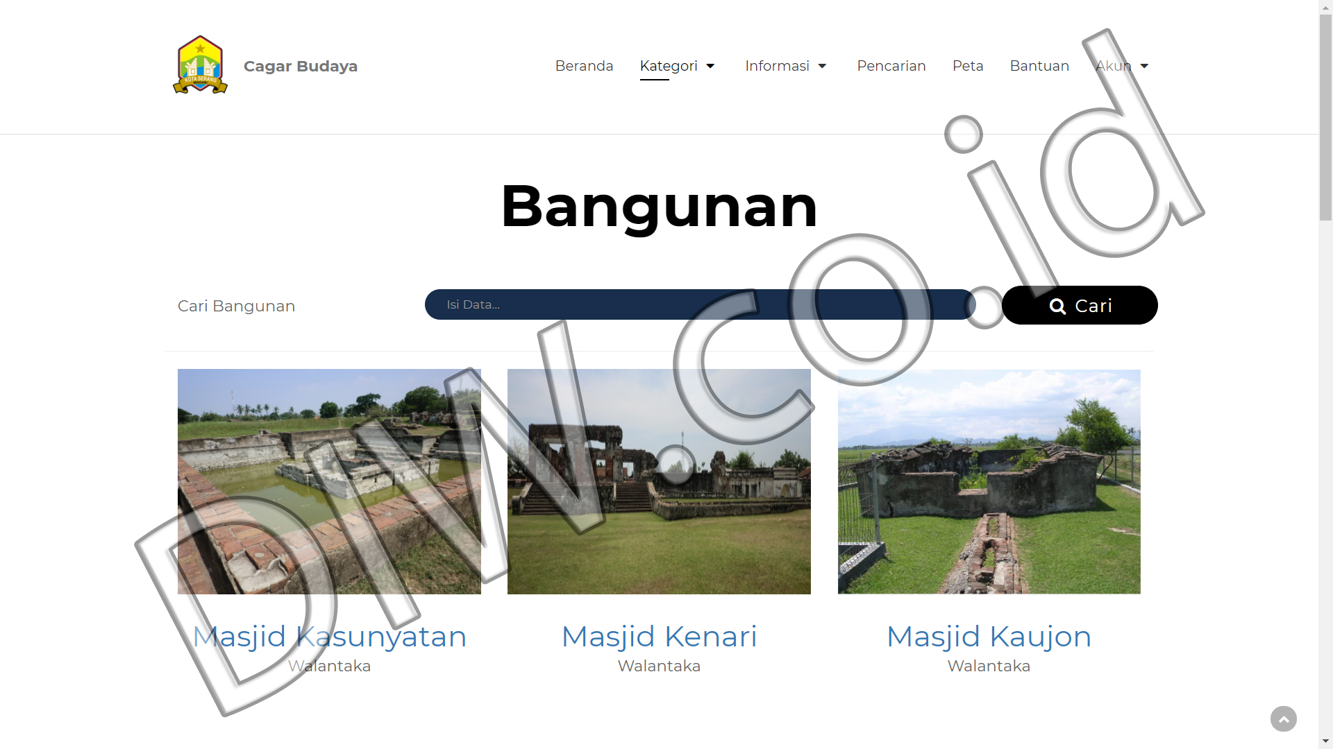 Portfolio 3 - Cagar Budaya - Andri Sunardi - Freelancer - Web Developer - CEO DIW.co.id