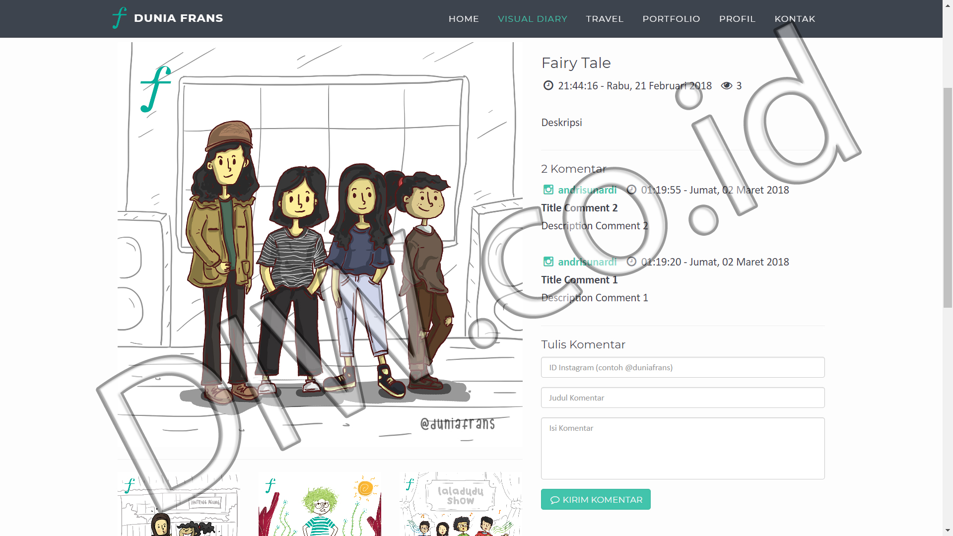 Portfolio 3 - Dunia Frans - Andri Sunardi - Freelancer - Web Developer - CEO DIW.co.id