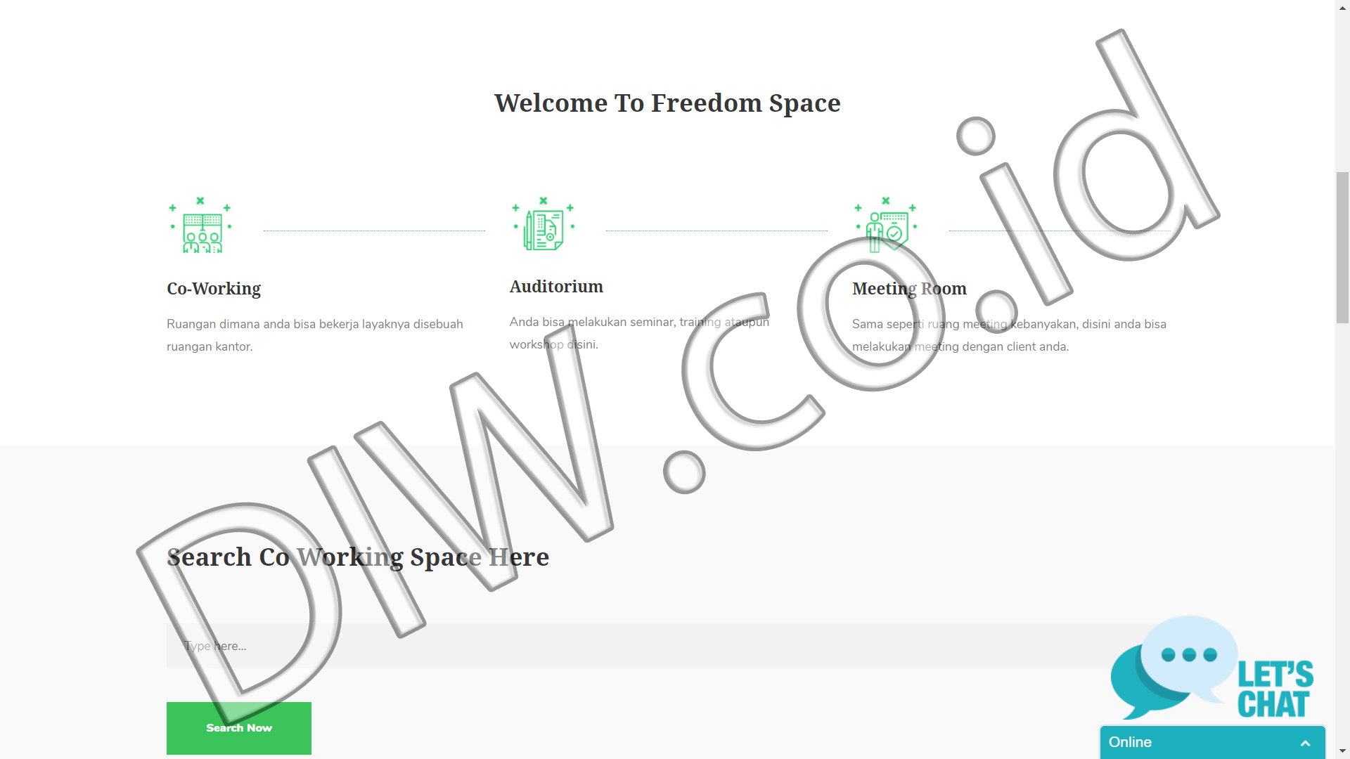 Portfolio 2 - Freedom Space - Andri Sunardi - Freelancer - Web Developer - CEO DIW.co.id