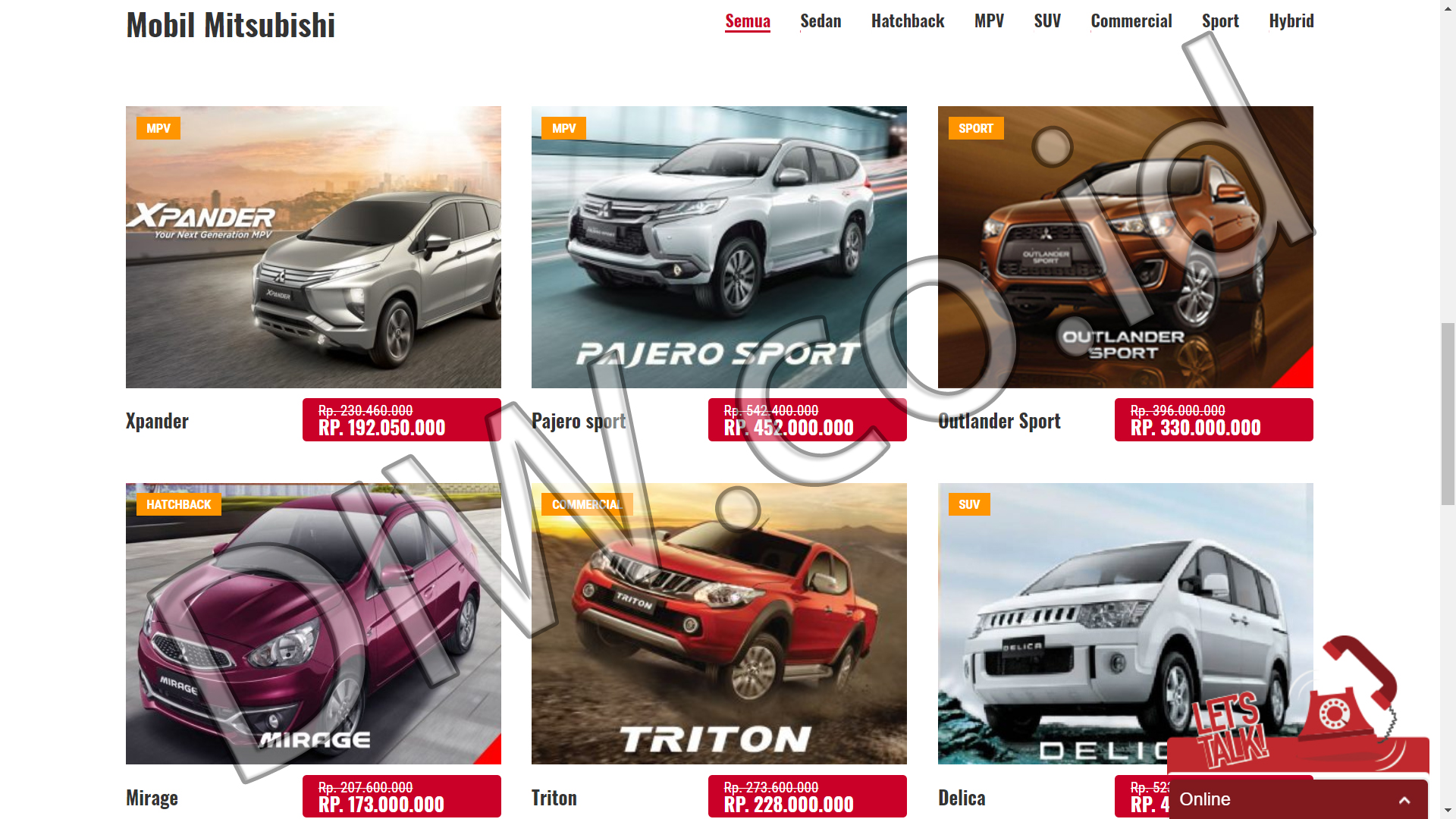 Portfolio 2 - Jakarta Dealer Mitsubishi - Andri Sunardi - Freelancer - Web Developer - CEO DIW.co.id