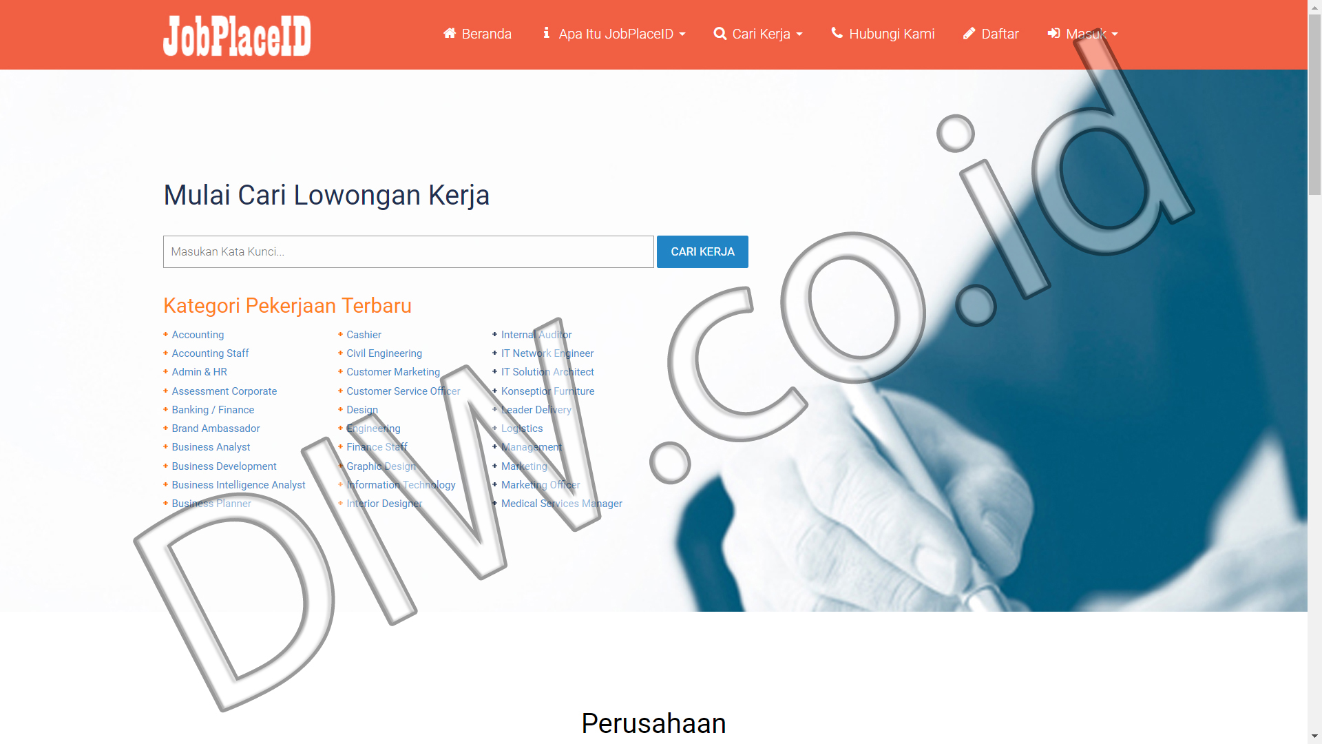 Portfolio 1 - Job Place ID - Andri Sunardi - Freelancer - Web Developer - CEO DIW.co.id