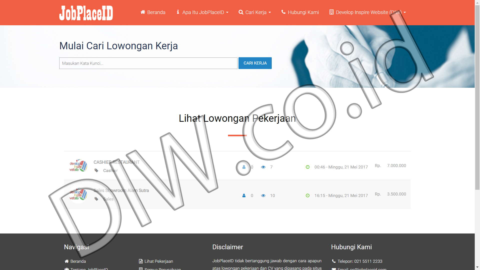 Portfolio 4 - Job Place ID - Andri Sunardi - Freelancer - Web Developer - CEO DIW.co.id