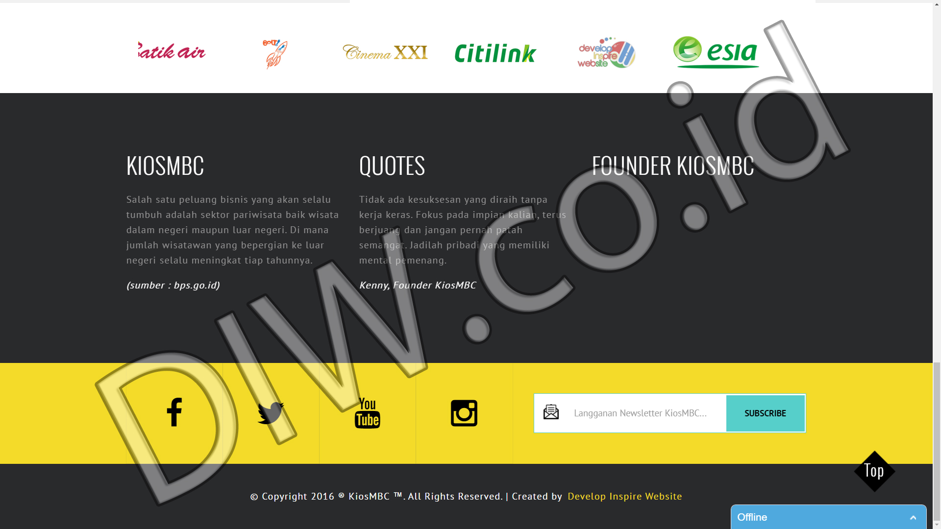 Portfolio 2 - Kios MBC - Andri Sunardi - Freelancer - Web Developer - CEO DIW.co.id