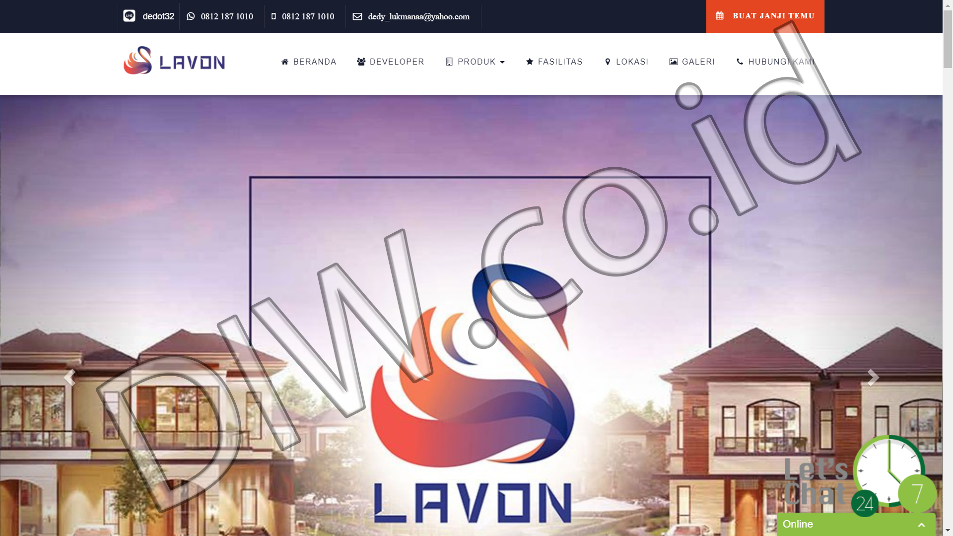Portfolio 1 - Lavon New City - Andri Sunardi - Freelancer - Web Developer - CEO DIW.co.id