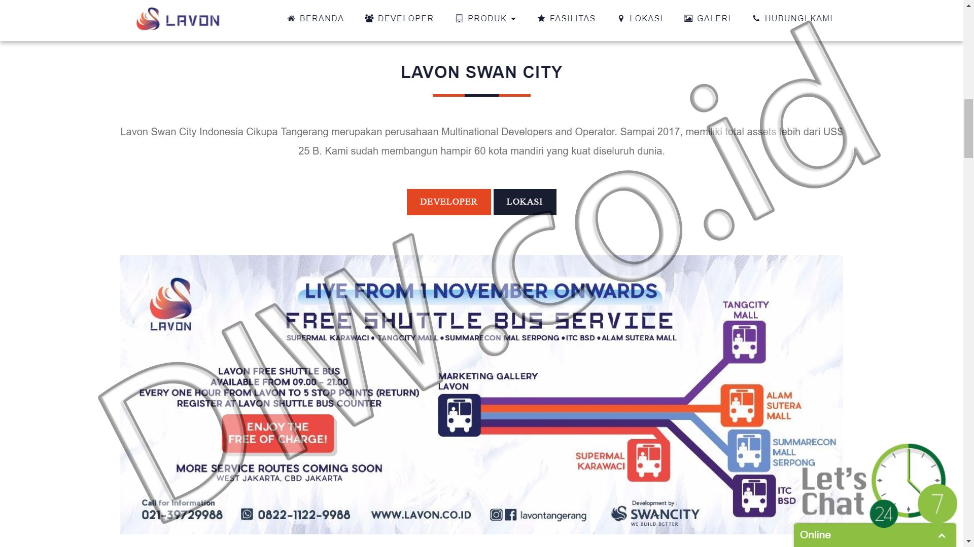 Portfolio 2 - Lavon New City - Andri Sunardi - Freelancer - Web Developer - CEO DIW.co.id