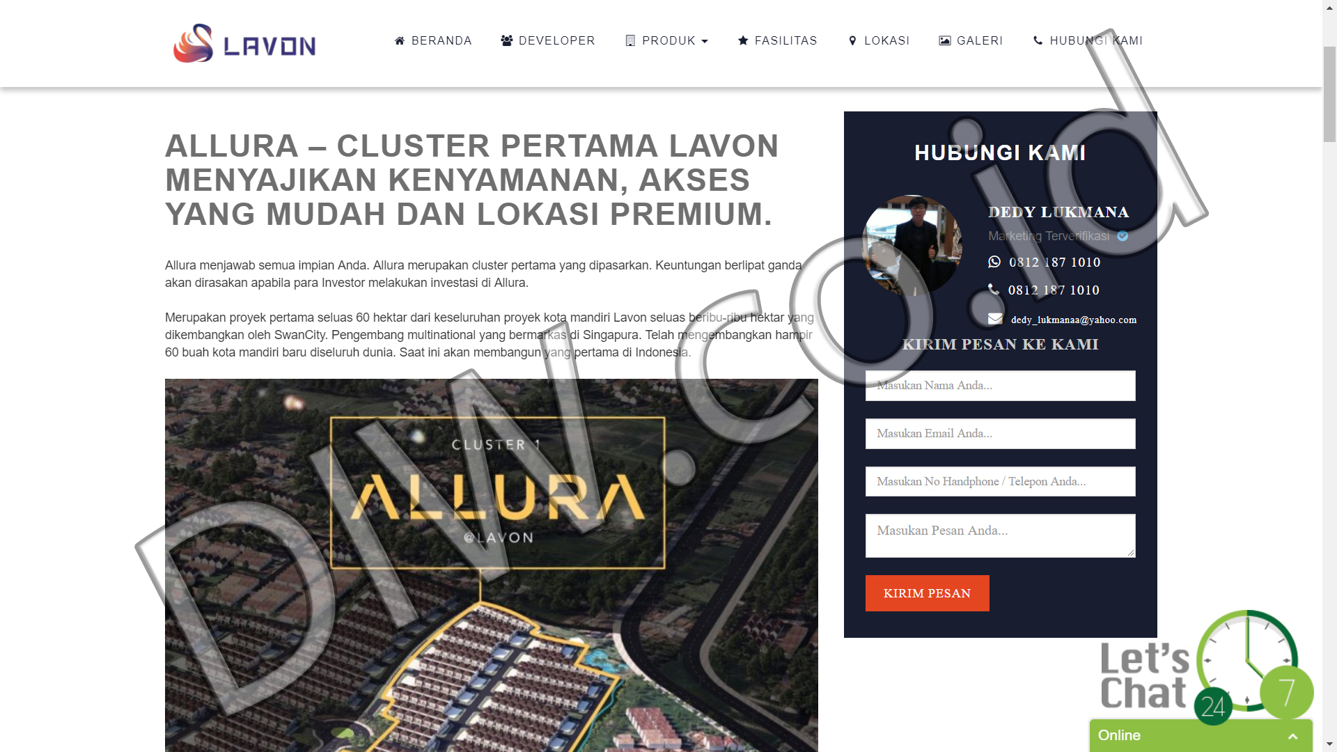 Portfolio 5 - Lavon New City - Andri Sunardi - Freelancer - Web Developer - CEO DIW.co.id