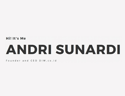 Portfolio - Andri Sunardi - Andri Sunardi - Freelancer - Web Developer - CEO DIW.co.id
