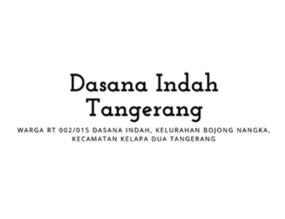 Portfolio - Dasana Indah Tangerang 002 015 - Andri Sunardi - Freelancer - Web Developer - CEO DIW.co.id