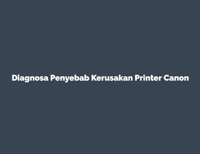 Portfolio - Diagnosa Printer Canon IP Series - Andri Sunardi - Freelancer - Web Developer - CEO DIW.co.id