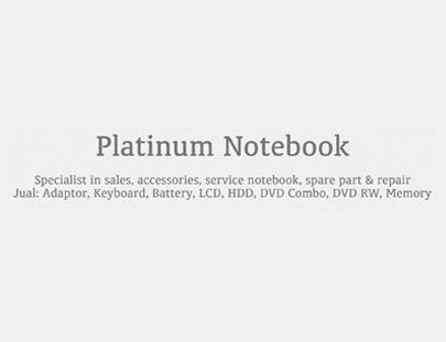 Portfolio - Platinum Notebook - Andri Sunardi - Freelancer - Web Developer - CEO DIW.co.id