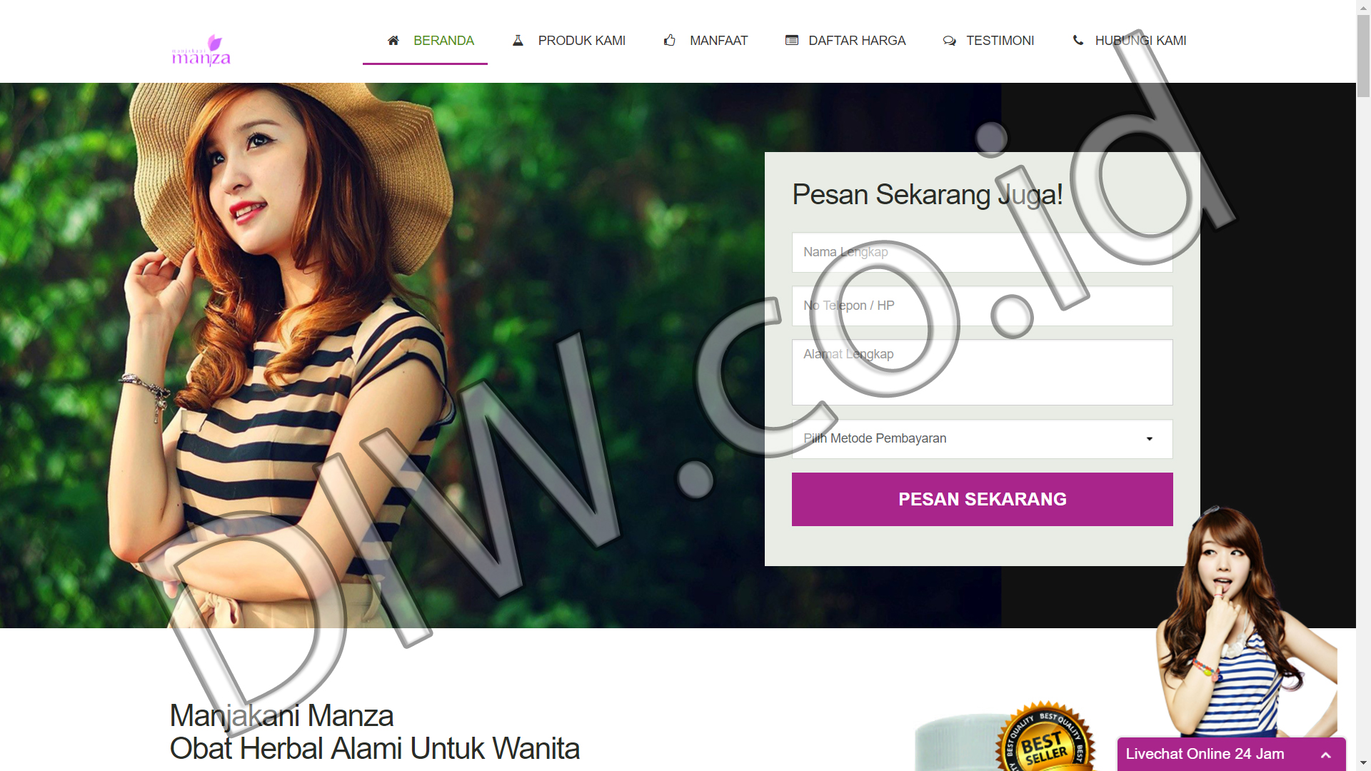 Portfolio 1 - Manjakani Manza - Andri Sunardi - Freelancer - Web Developer - CEO DIW.co.id