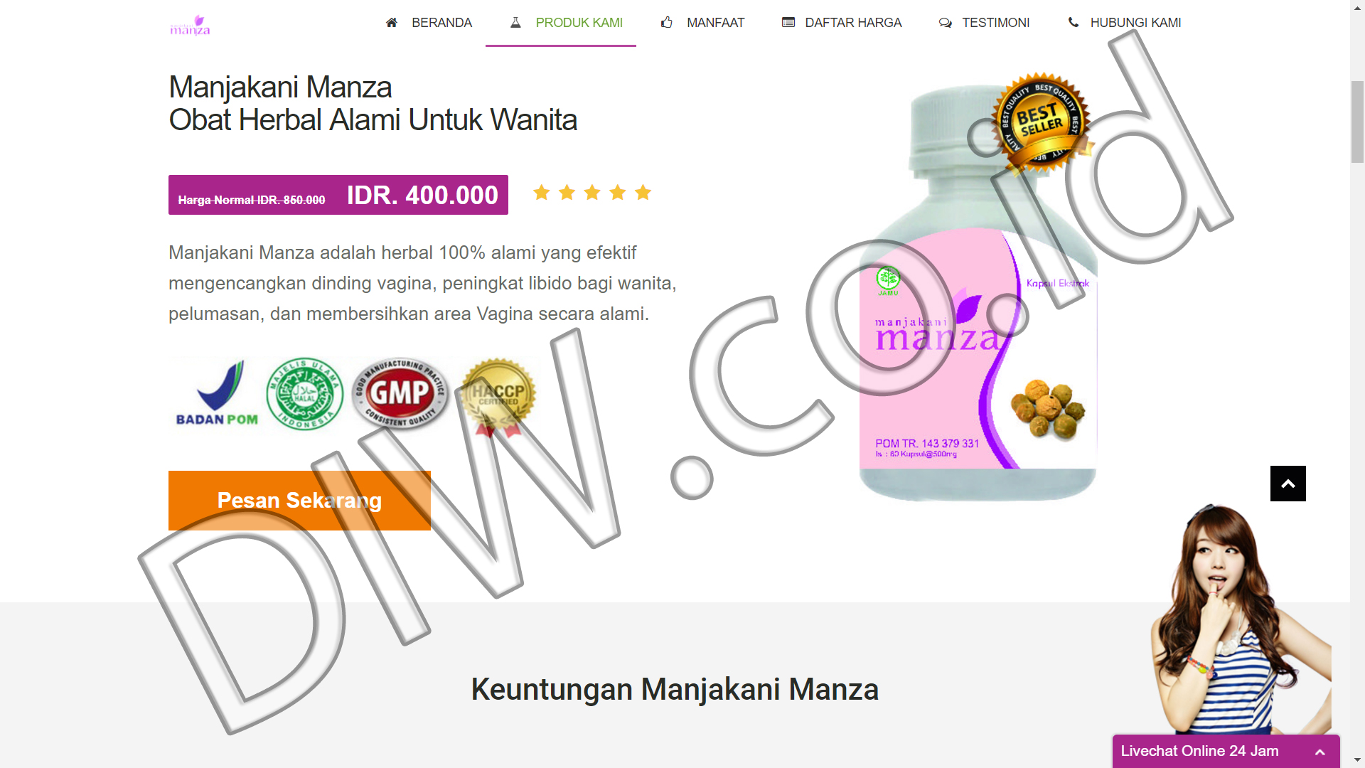 Portfolio 2 - Manjakani Manza - Andri Sunardi - Freelancer - Web Developer - CEO DIW.co.id