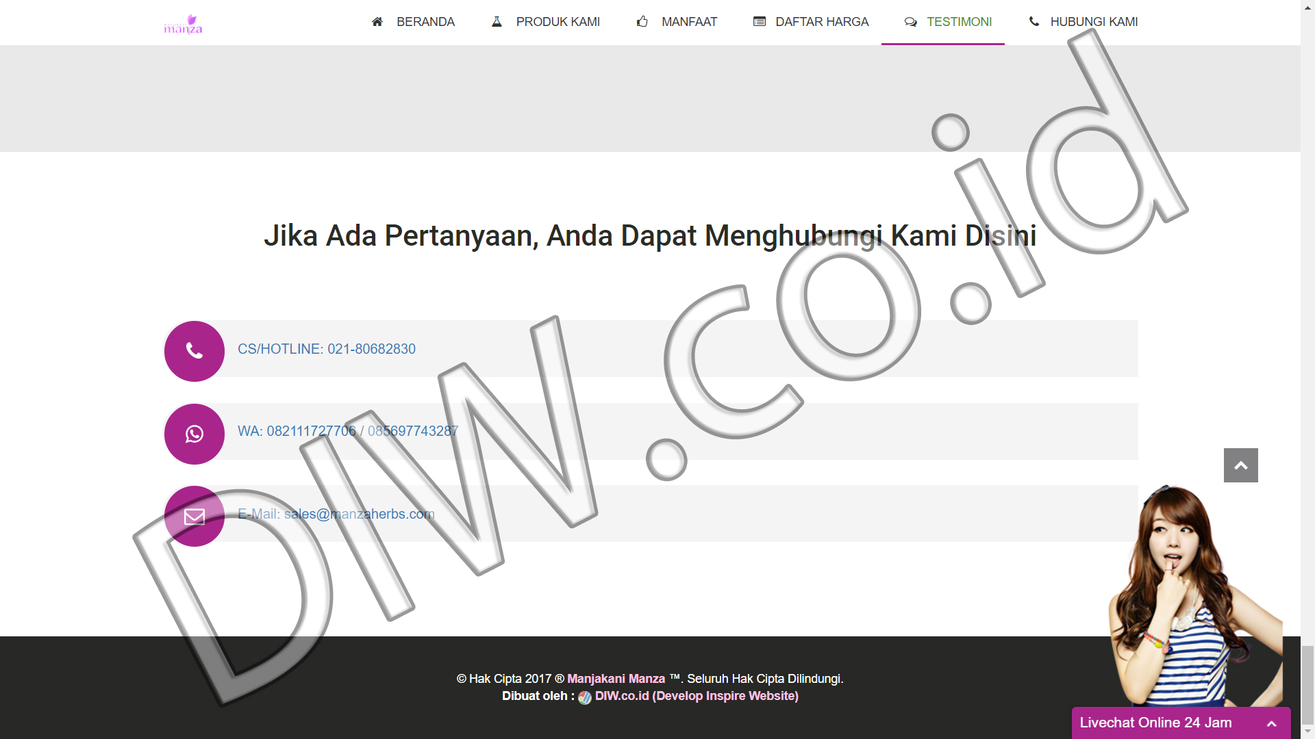Portfolio 5 - Manjakani Manza - Andri Sunardi - Freelancer - Web Developer - CEO DIW.co.id