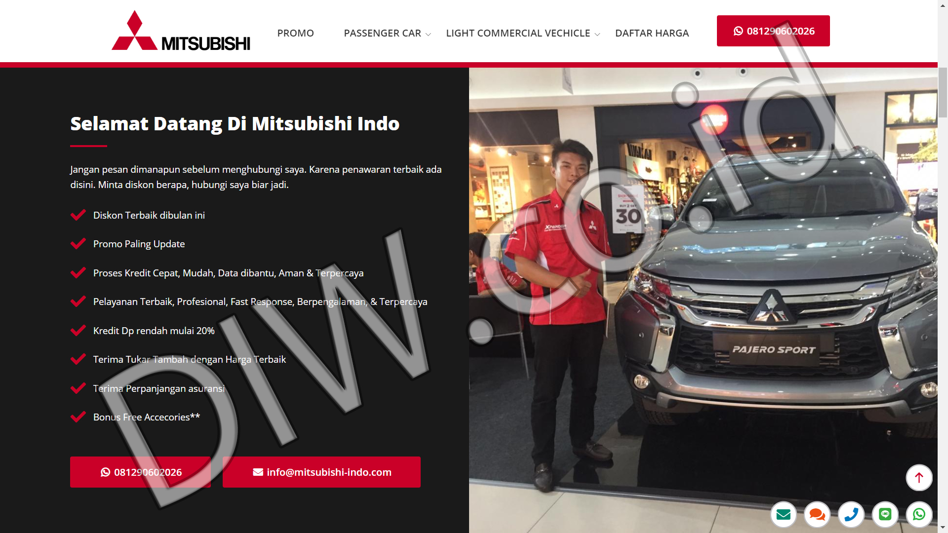 Portfolio 2 - Mitsubishi Indo - Andri Sunardi - Freelancer - Web Developer - CEO DIW.co.id