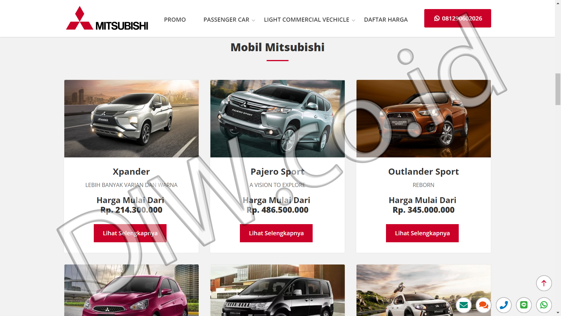 Portfolio 3 - Mitsubishi Indo - Andri Sunardi - Freelancer - Web Developer - CEO DIW.co.id