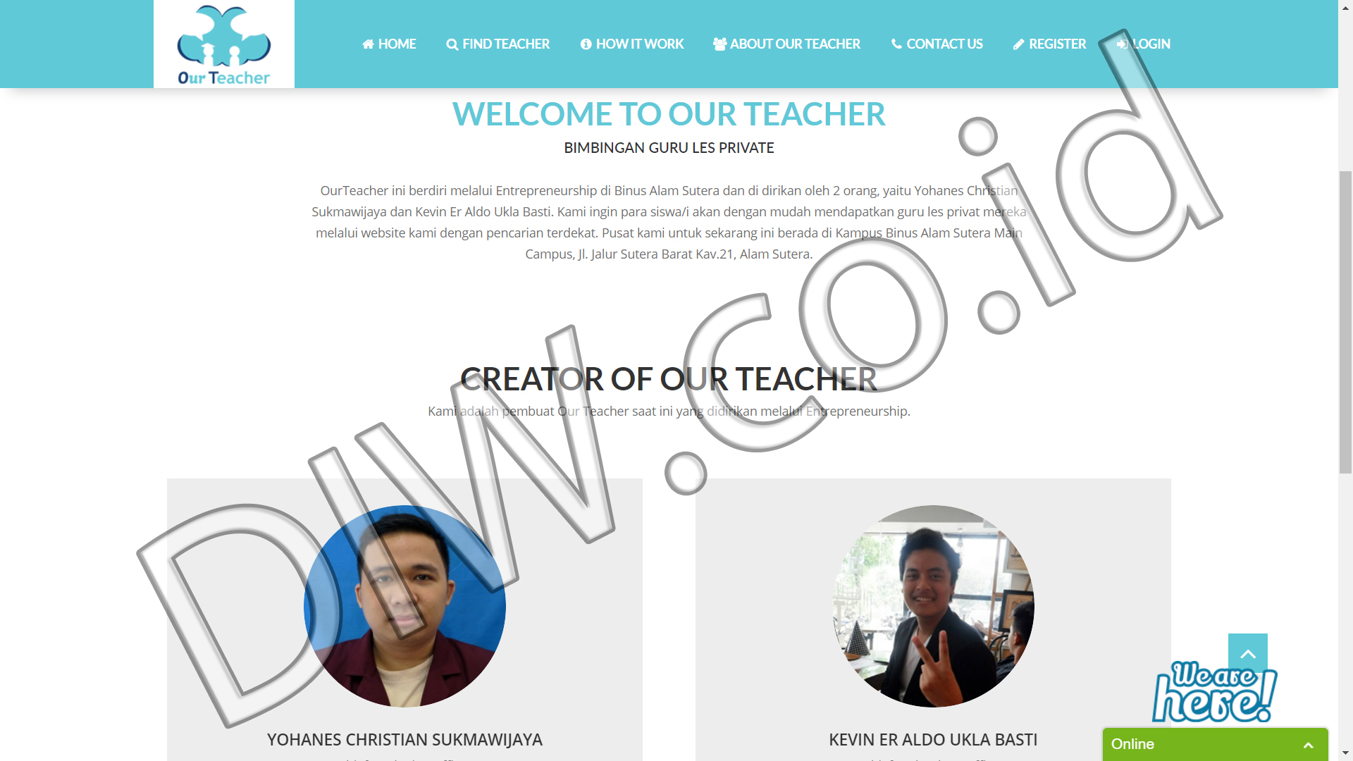 Portfolio 5 - Our Teacher - Andri Sunardi - Freelancer - Web Developer - CEO DIW.co.id