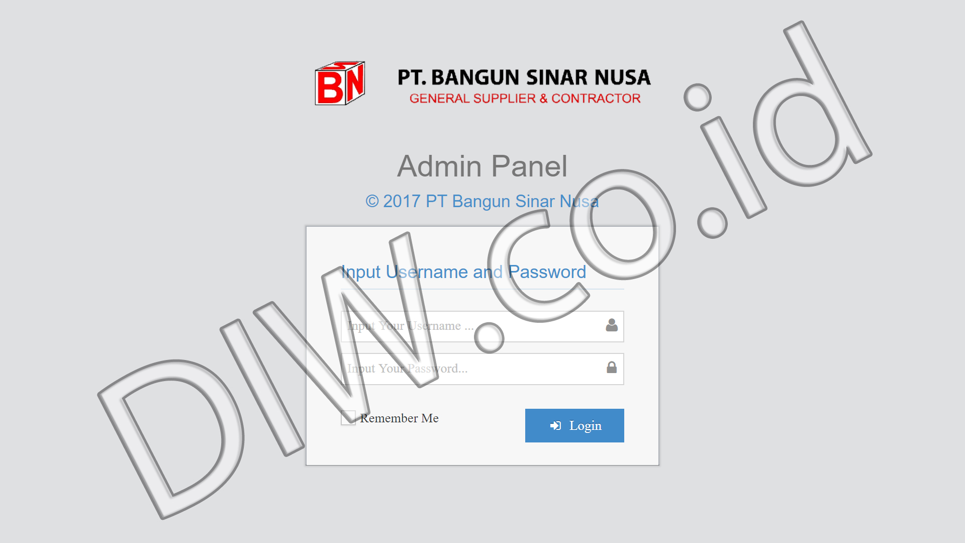 Portfolio 1 - PT Bangun Sinar Nusa - Andri Sunardi - Freelancer - Web Developer - CEO DIW.co.id