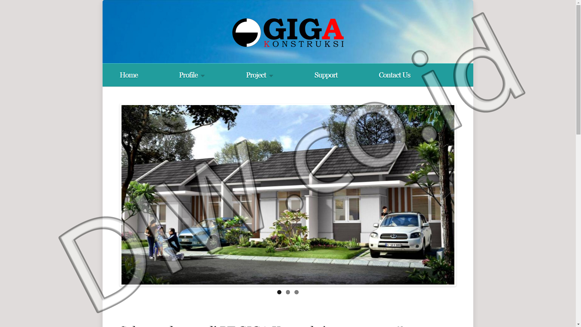 Portfolio 1 - PT Giga Kontruksi - Andri Sunardi - Freelancer - Web Developer - CEO DIW.co.id