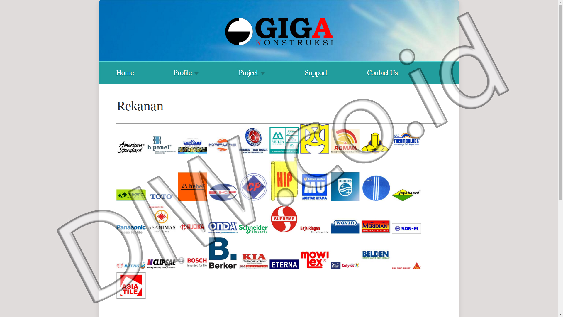 Portfolio 4 - PT Giga Kontruksi - Andri Sunardi - Freelancer - Web Developer - CEO DIW.co.id