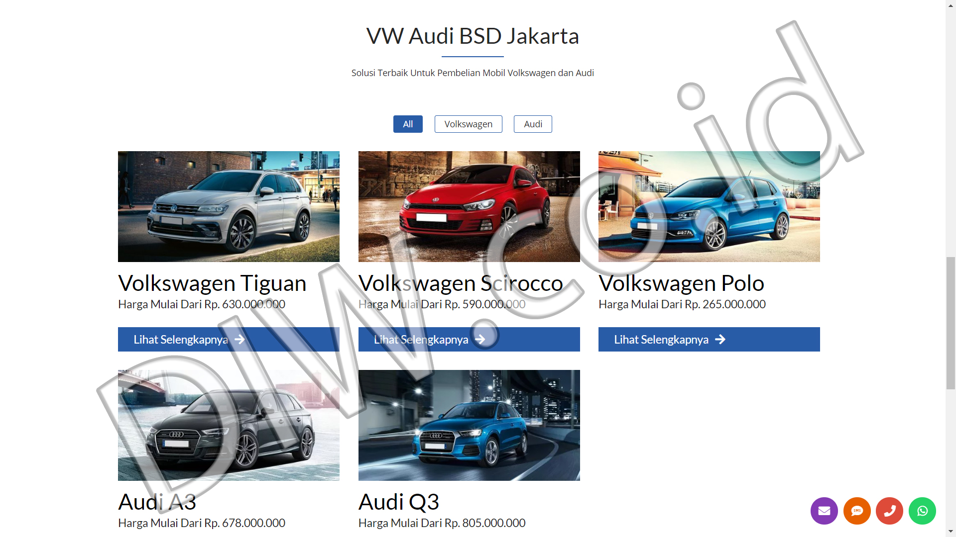 Portfolio 2 - VW Audi BSD Jakarta - Andri Sunardi - Freelancer - Web Developer - CEO DIW.co.id