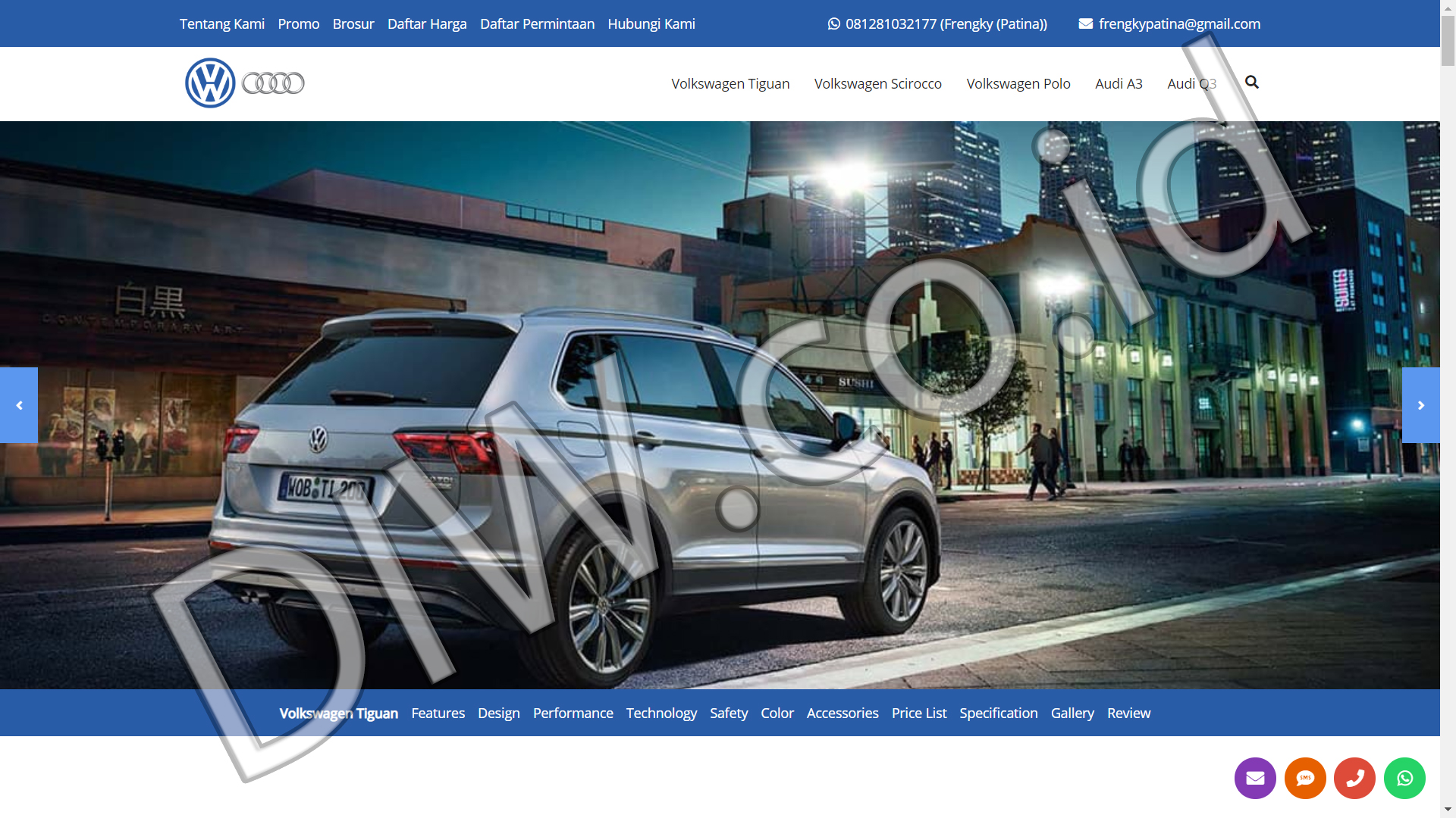 Portfolio 4 - VW Audi BSD Jakarta - Andri Sunardi - Freelancer - Web Developer - CEO DIW.co.id